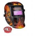 Careta electrónica  FLAMING SKULL 6711 ADIR