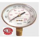 Manómetro  de presión  rengo 0 a 14 Kg/cm3 (200 psi)