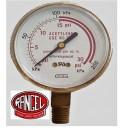 Manómetro de presión rango 0 a 2 Kg/cm3(0-30 PSI)acetileno