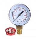 Manómetro  de presión  rengo 0 a 4 Kg/cm2 ( 60 PSI)BUTANO